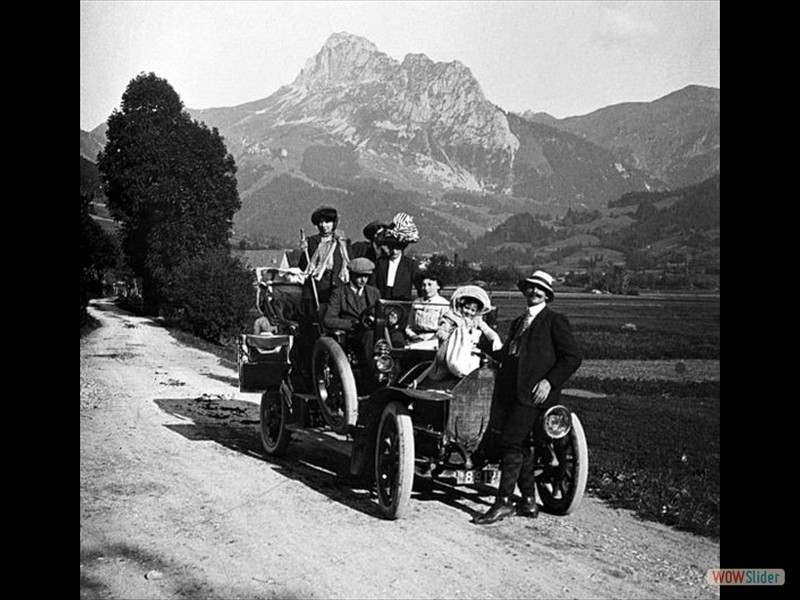 A family on holiday in France circa 1900