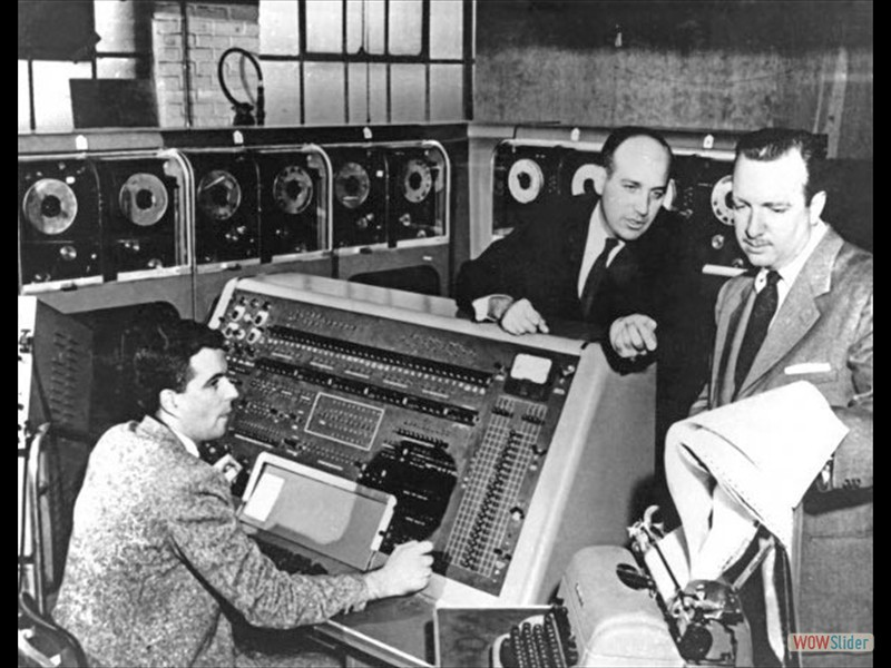UNIVAC computer with Walter Cronkite