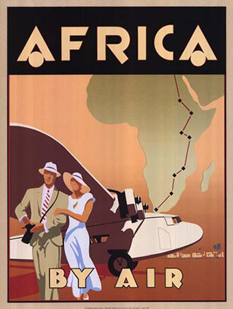 Africa travel poster